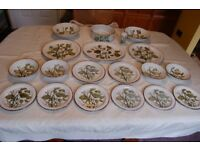 Midwinter 'Greenleaves' Oven to Tableware Part Dinner Set in Excellent Condition, 59 Items in Total