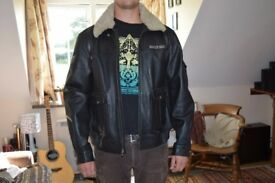 Genuine Harley Davidson Leather Jacket W/Sheepskin collar