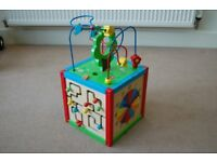 East Coast - Wooden 5 In 1 Activity Cube For Child