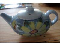 hand painted Buchan Portobello Scotland finest stone ware tea pot