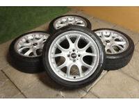 "Genuine MINI 17"" JCW Alloy Wheels 4x100 Cooper S One Web Spoke John Cooper Works"