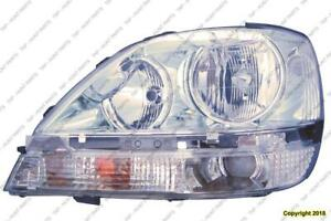 Headlight Driver Side Chrome House High Quality Lexus RX300 2001-2003