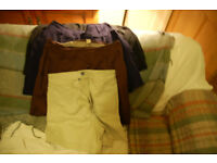 4 pairs of Gap shorts size 8 to 14 beige retro cut, black.blue & brown with pockets