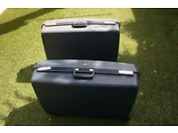 DELSEY SUITCASES ONE BLUE AND ONE GREY BOTH LARGE 29 inch