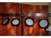 led par bar lights -- set of two.... so eight lights altogether