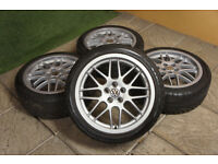 "Genuine BBS RX 17"" Alloy wheels & Tyres 5x100 Alloys VW Golf MK4 Beetle Bora Polo Audi TT A3 Leon"
