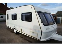 Caravan Fleetwood Colchester 500-EK 4 Berth 2000 2x Awning and Cover