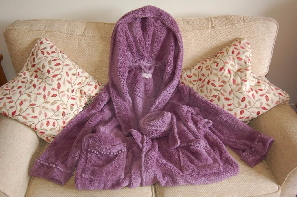 bhs hooded long dressing gown size 16-18 in lilac worn once | in ...