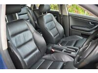 AUDI A4 B6 BLACK LEATHER SPORTS SEATS / INTERIOR WITH DOOR CARDS