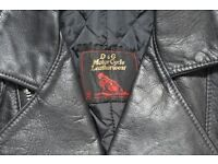 D&G Motorcycle Leatherwear Jacket, Black, excellent condition Size 42-44