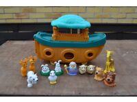 Vintage Noah's Ark with Animals & Noah