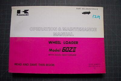 Kawasaki 60z Wheel Loader Operators Operation Manual Book Guide Book Owner Shop