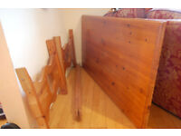 Beautiful solid pine antique pine kitchen / dining trestle table