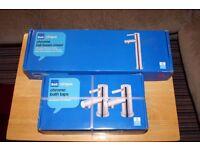 B&Q Cirque chrome tall basin mixer & chrome bath taps set. Brand new.