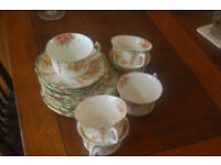 Vintage Imperial floral china tea set 6 cups saucers and plates