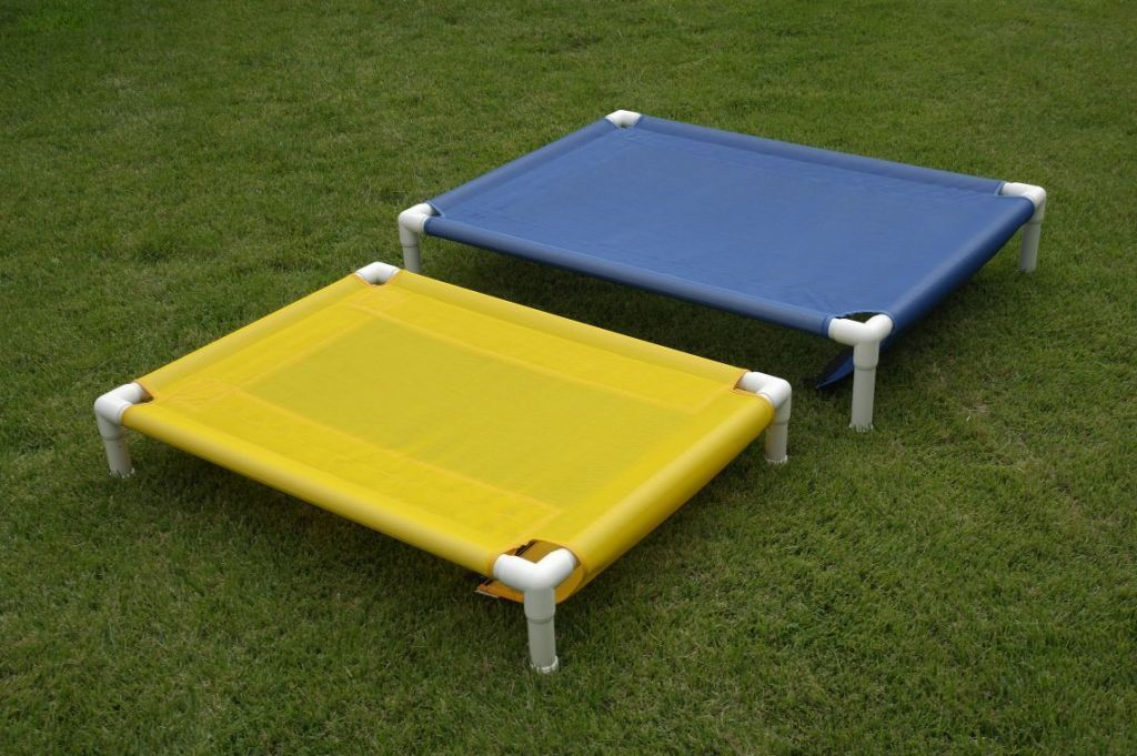 """Rust Proof PVC Pipe Dog Bed Cot 28""""x36""""x8"""" 11 Mesh Colors Do"""