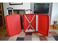 2 X Samsonite Hard-shell suitcases