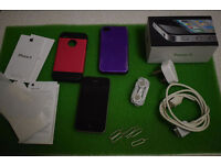 Apple iPhone 4s - Black (Unlocked /network free) Smartphone PLUS charger & other accessories (+box)
