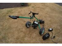 For Sale : HillBIlly Electric Golf Trolley (Green) + Battery & Charger - full working order