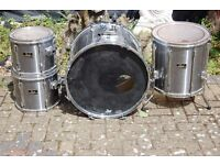 4 PEARL EXPORT SERIES SILVER DRUMS