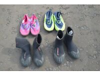 Kids water shoes various sizes