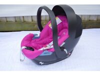 MAMAS AND PAPAS CYBEX ATON PINK CAR SEAT