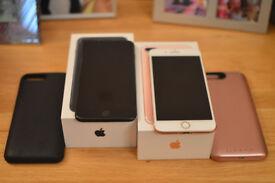 **SOLD** iPhone 7 Plus - Rose Gold / Matt Black - 256GB Sim Free (Purchased from John Lewis)