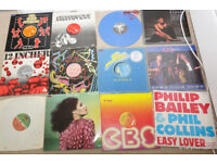 Job Lot of 70 Vinyl LP's from the 60's, 70's and 80's, Including 12ins singles
