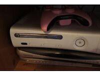 X BOX 360 WITH LOTS OF GAMES, CONTROLLER AND ALL LEADS (ONLY£55) CAN DELIVER