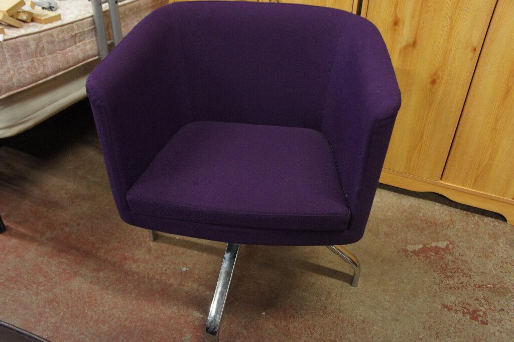 Purple rotating chair