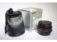 PENTAX 21mm F3.2 HD DA Lens. Receipt from Wex 13/7/17. Hardly used. Perfect condition.