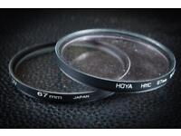 BARGAIN 2x 67mm UV filters