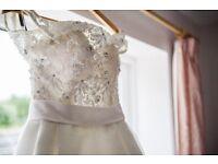 Beautiful Art Couture ivory wedding dress (size 10)