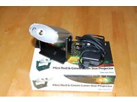 Prosound mini red and green laser star projector