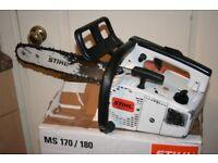 STIHL 020 AV SUPER top handle chainsaw