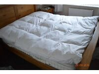 King size Feather Mattress topper - nearly new