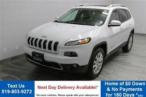 2015 Jeep Cherokee 4WD LIMITED w/ NAVIGATION! LEATHER! PANORAMIC