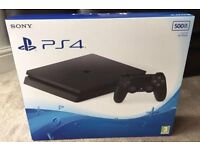 LIKE NEW JET BLACK 500GB PS4 SLIM (PLAYSTATION 4) GAMES CONSOLE,RRP £399
