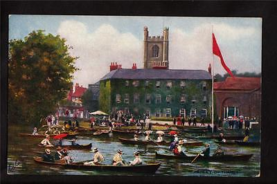 (Tuck boats Regatta Henley on river Thames Uk postcard)