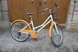 Dawes Lil' Princess Dutch style Child's bike with 6 speed and basket. Great bike in good used state.