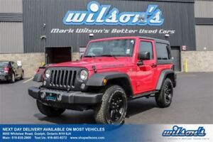 2016 Jeep Wrangler SPORT! 2-TOPS! AC!  4x4  POWER PACKAGE! ALLOY