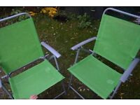 2 garden/camping folding chairs, new
