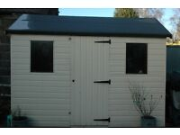 Garden Shed - Wood - Hipex - good condition Width: 10' Depth: 6' Height: 8' at Apex (6' at Eaves)