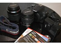 Canon 1200D with 2x Canon Lenses 18-55mm & 55-200mm