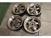 """17"""" Alloy wheels 5x112 & 5x120 fits VW Golf Passat A3 A4 Caddy BMW 3 Series E36 E46 Z3 Alloys"""