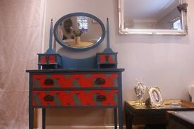 vintage up-cycled dressing table.
