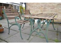 garden table chairs bench