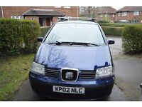 2002 -SEAT Alhambra - Very good condition - 1.9 - TDI - 7 Seater - 7 Months MOT