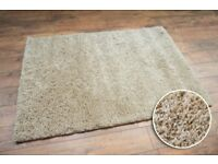 Off-White Shaggy Rugs Clearance 3 Large Sizes Thick Brand New