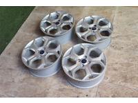 "4x Genuine FORD BMAX / Fiesta 17"" Alloy wheels 4x108 Fiesta MK6 MK7 MK8 MK9 B Max Alloys"